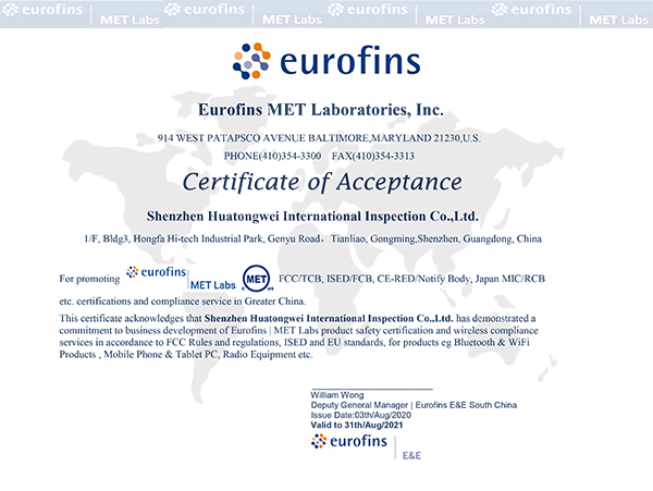 Eurofins MET Laboratories,Inc.