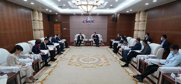 央企合作丨CCIC李忠榜拜访航天科工集团